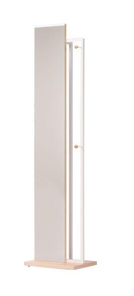 ハンガー付ミラー 幅40cm 奥行30cm 高さ163cm  ベース:MDF塩ビシート真空成型<br>フレーム:スチール(粉体塗装)  HM-400(NA) UTILITY 弘益 インテリア 家具 雑貨 セール 送料無料 ヴィヴェンティエ