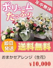 おまかせアレンジ(生花)10000円