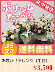 おまかせアレンジ(生花)3000円