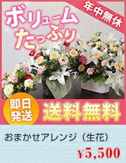 おまかせアレンジ(生花)5000円