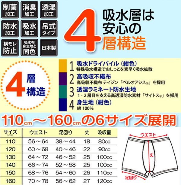 トレーニングパンツ 4層 吊り式