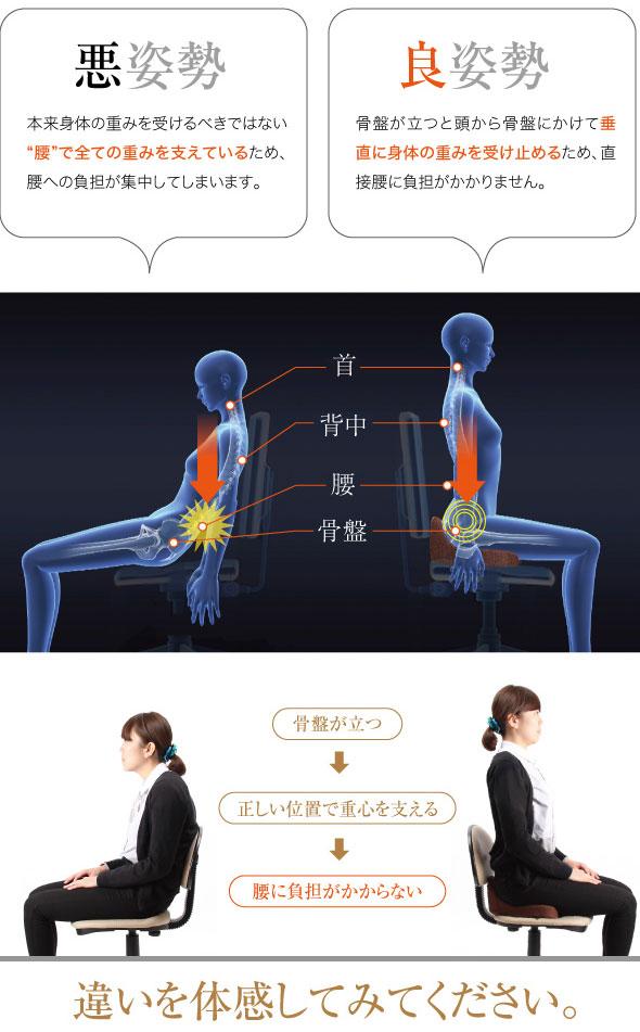 骨盤固定座椅子