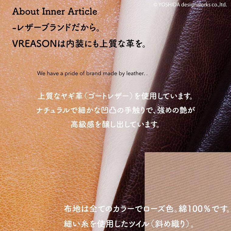 ヴレアゾンのL字ファスナー長財布の内装