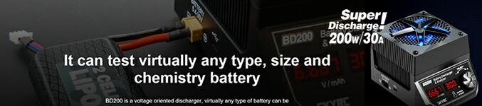 デジタル電子負荷 200W 30A SkyRC BD200 Battery Discharger & Analyzer