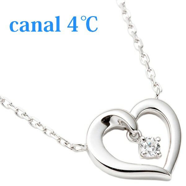 カナル4℃ Canal4℃ ネックレス レディース ペンダント オープンハート シルバー 151444121022