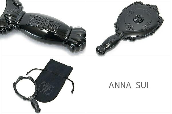 アナスイ ANNA SUI ミラー 鏡 手鏡 ハンドミラー ローズ ブラック