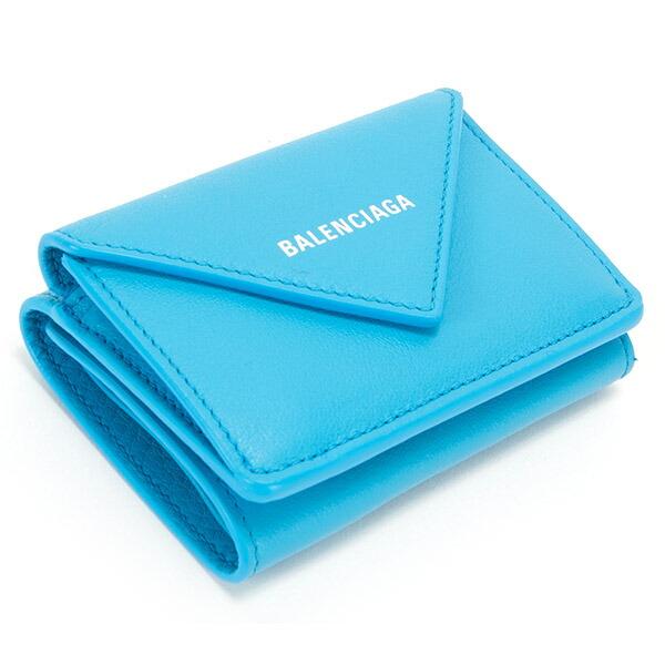 バレンシアガ 財布 三つ折り財布 ミニ財布 レディース ペーパー ミニウォレット ブラック BALENCIAGA 391446 DLQ0N 4315 スマートウォレット 薄型 薄い