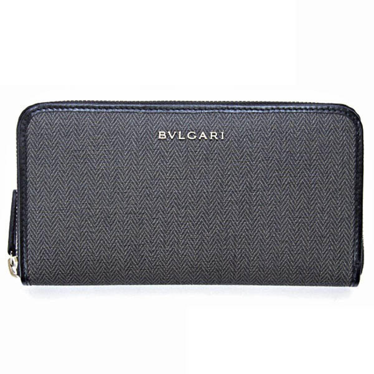 ブルガリ BVLGARI 財布 長財布 ラウンドファスナー メンズ ウィークエンド WEEK END ブラック 32587 BLACK