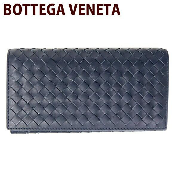 BOTTEGA VENETA ボッテガヴェネタ 財布 長財布 メンズ 二つ折り ダークネイビー 156819 V4651 4013