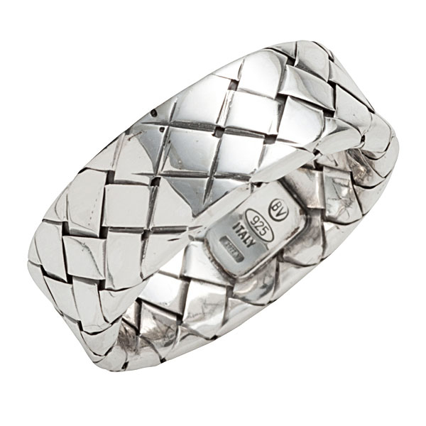 ボッテガヴェネタ リング BOTTEGA VENETA 指輪 イントレチャート シルバー925 シルバー 200741 V5060 8117