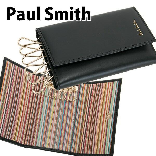 ポールスミス Paul Smith キーケース 6連 メンズ ブラック APXA 1981 W761 B