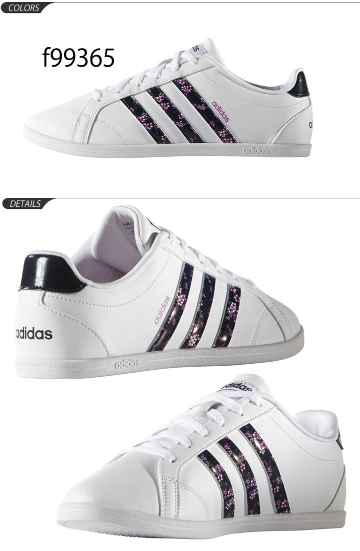 adidas coneo qt leather ladies trainers white