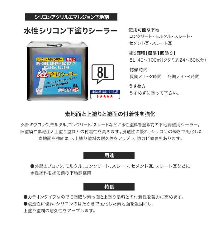 【楽天市場】ニッぺホームプロダクツ 水性シリコン下塗り ...