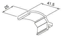 レールカバー取付ブラケットの寸法