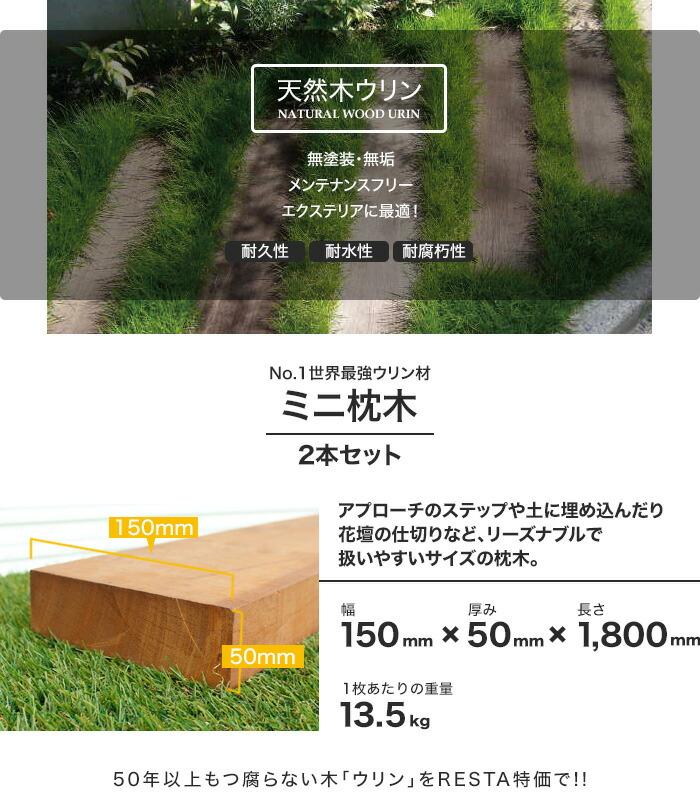 天然木ミニ枕木