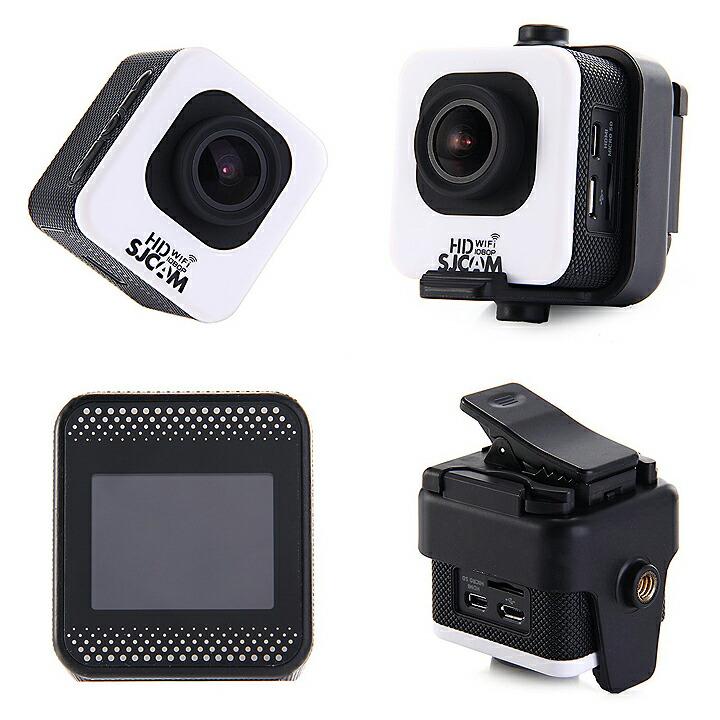 SJCAM M10 Wi-Fi ミニキューブ12MP 1080P アクション スポーツカメラ 1.5インチLCDスクリーン 170度広角レンズ 30m防水 HDビデオカメラ 車 ドライブレコーダー◇M10WIFI