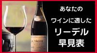 リーデル/あなたのワインに適したリーデル早見表