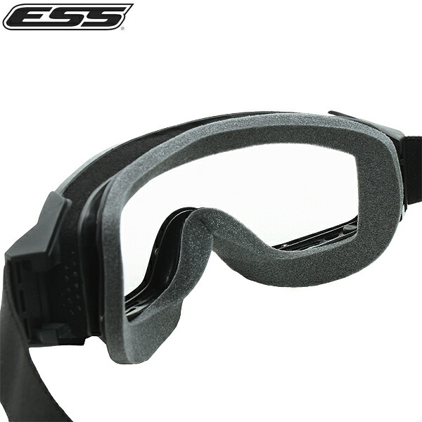 ESS Eyewear Asian Fit Profile Compact Tactical Goggle with Soft Case Black
