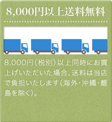税別8,000円以上送料無料