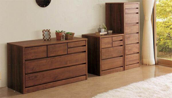 タンスチェスト引き出しアルダー材スライドレール木製ナチュラルブラウン全2色国産完成品送料無料