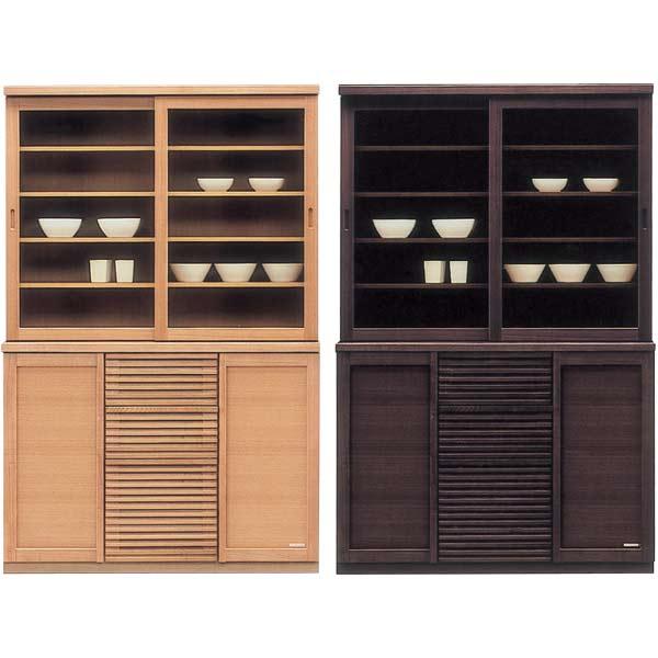 食器棚 ダイニングボード キッチンボード 引き戸 幅120cm