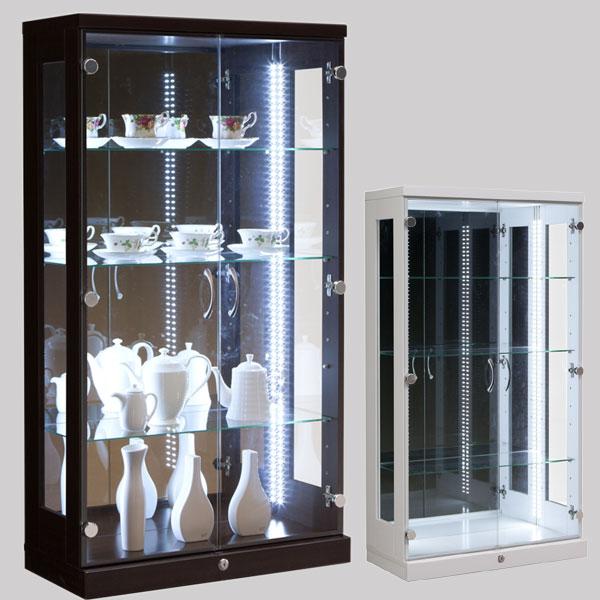 コレクションケースコレクションボードフィギュアケース【送料無料完成品】飾り棚ガラス背面ミラー木製幅65cmディスプレイラックキュリオケース