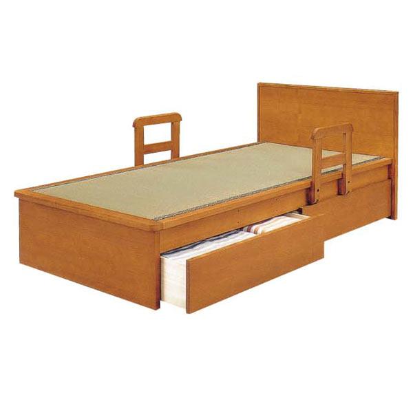 シングルベッド引出付