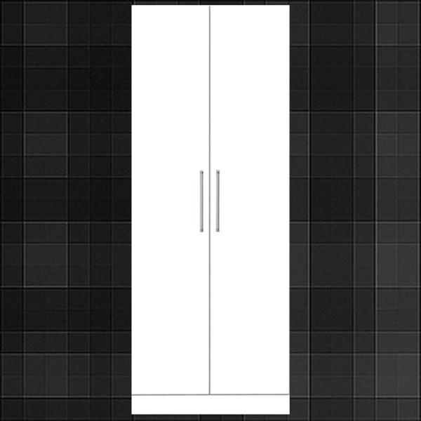 ワードローブ ホワイト 幅70cm