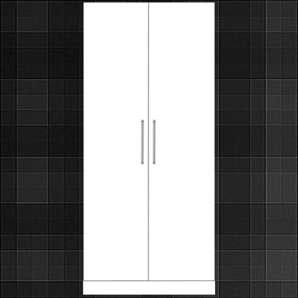 ワードローブ ホワイト 幅80cm
