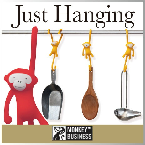 ( あす楽 ) ジャストハンギングモンキーフック 猿 フック 【 MONKEY BUSINESS/モンキービジネス 】Just Hanging Kitchen hooks おもしろ キッチン雑貨 S字フック かわいい モンキー 整理 収納 / WakuWaku