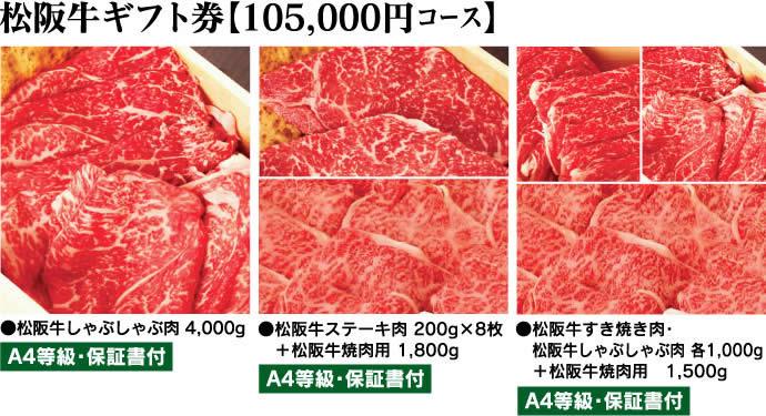 松阪牛ギフト券105000円コース