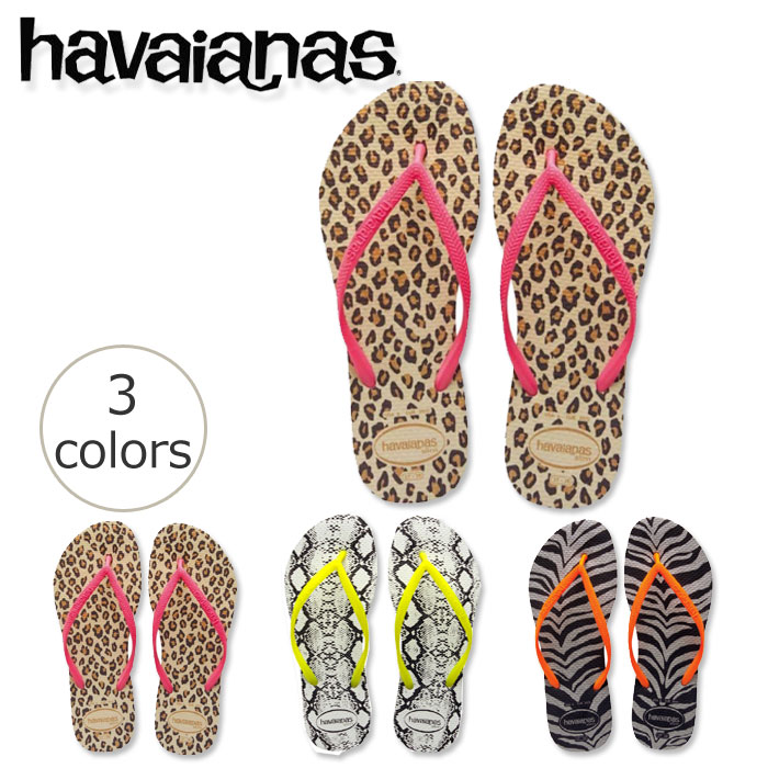 04587cb73c29 Popular Havaianas SLIM women are sole width even weight straps slim as its  name. Women s feet clean produce thin. Havaianas SLIM ANIMALS in ...