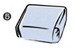風呂敷(ふろしき)の包み方・・・を上からかぶせ左右を箱の幅に合わせれば完成。
