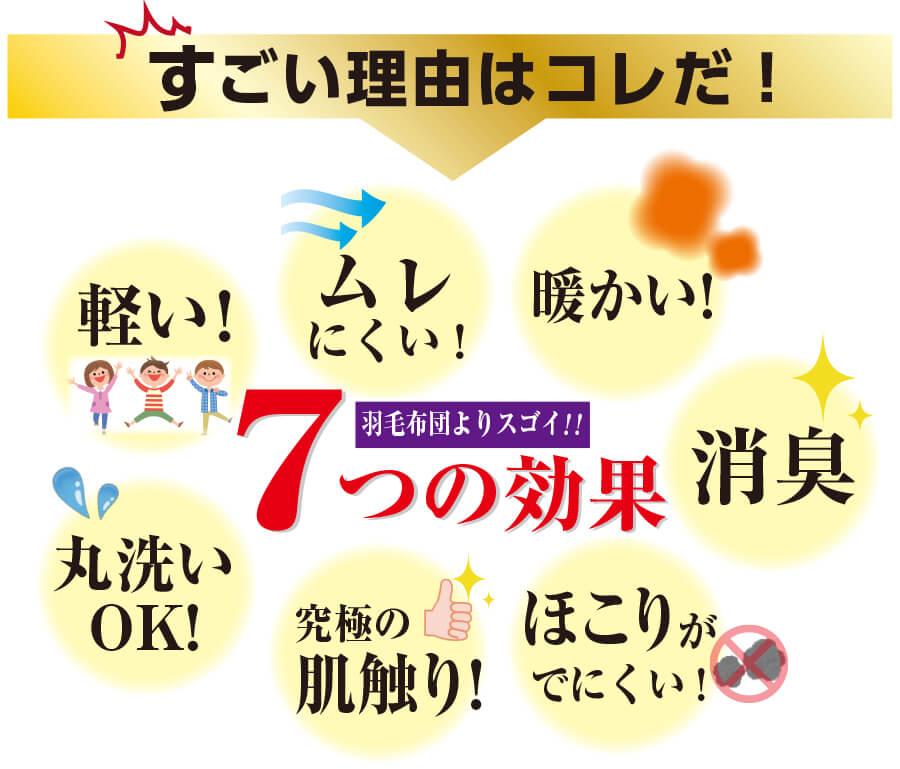 すごい掛け布団画像2 日本睡眠環境学会理事推奨 シングル 日本製