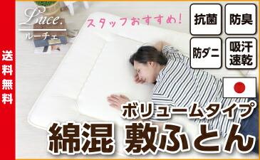 敷き布団 防ダニ シングル ルーチェ 日本製