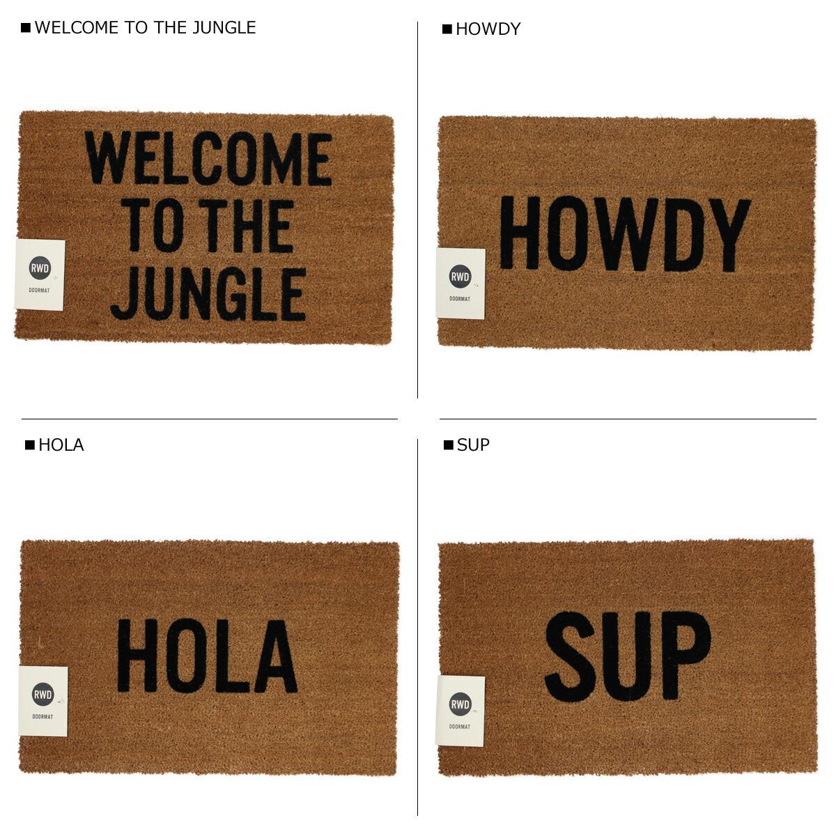 """Reed Wilson Design /""""Howdy/"""" Doormat"""
