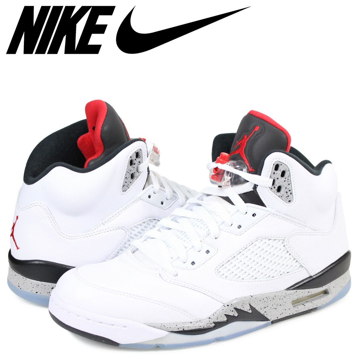 32e43f14b752 Whats up Sports  NIKE AIR JORDAN 5 RETRO WHITE CEMENT Nike Air ...