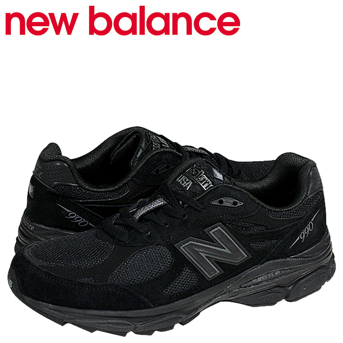 894863dca88 New Balance new balance M990TB3 sneakers D Wise suede mesh black men