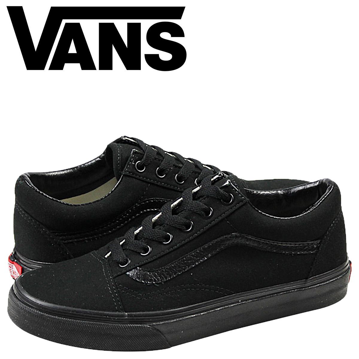 vans all black ladies