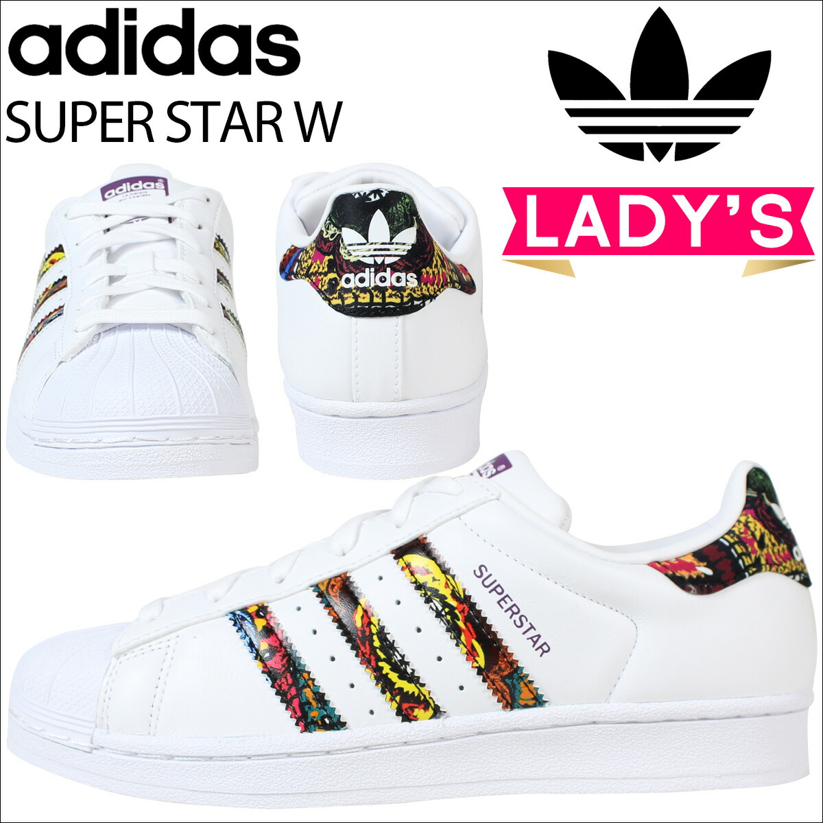 brand new f2aaa a3630 Womens White & Black Cheap Adidas Superstar Bold Trainers schuh
