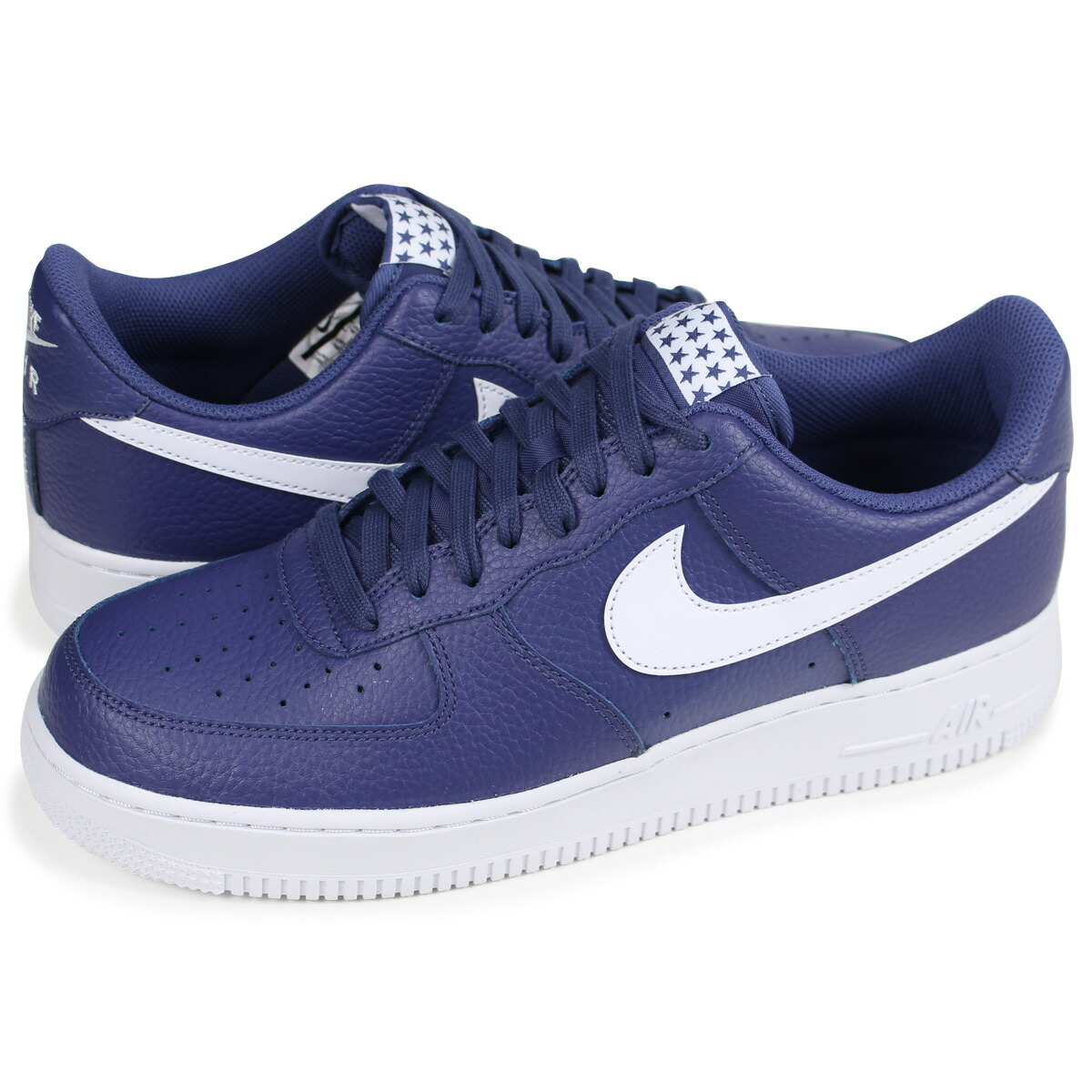 best sneakers fca40 5f390 Details about Nike Air Force 1  07 Shoes AA4083-401 Blue Recall White US  Men Size 9.5