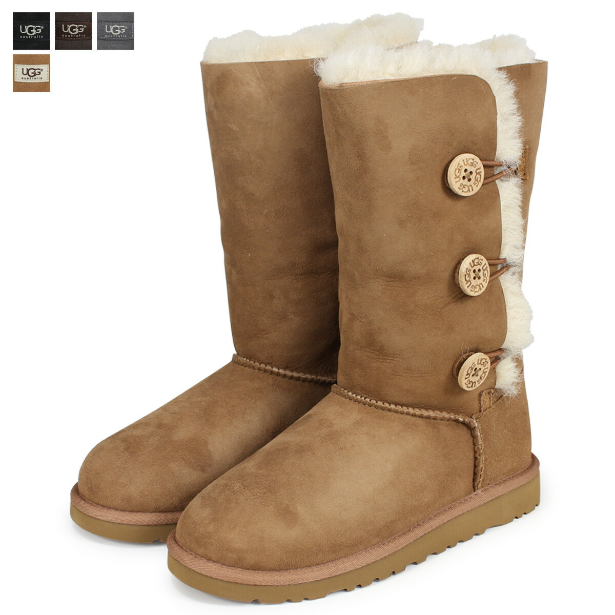 a452bd6f7cc アグ UGG kids Bailey button mouton boots KIDS BAILEY BUTTON TRIPLET 1962K  sheepskin