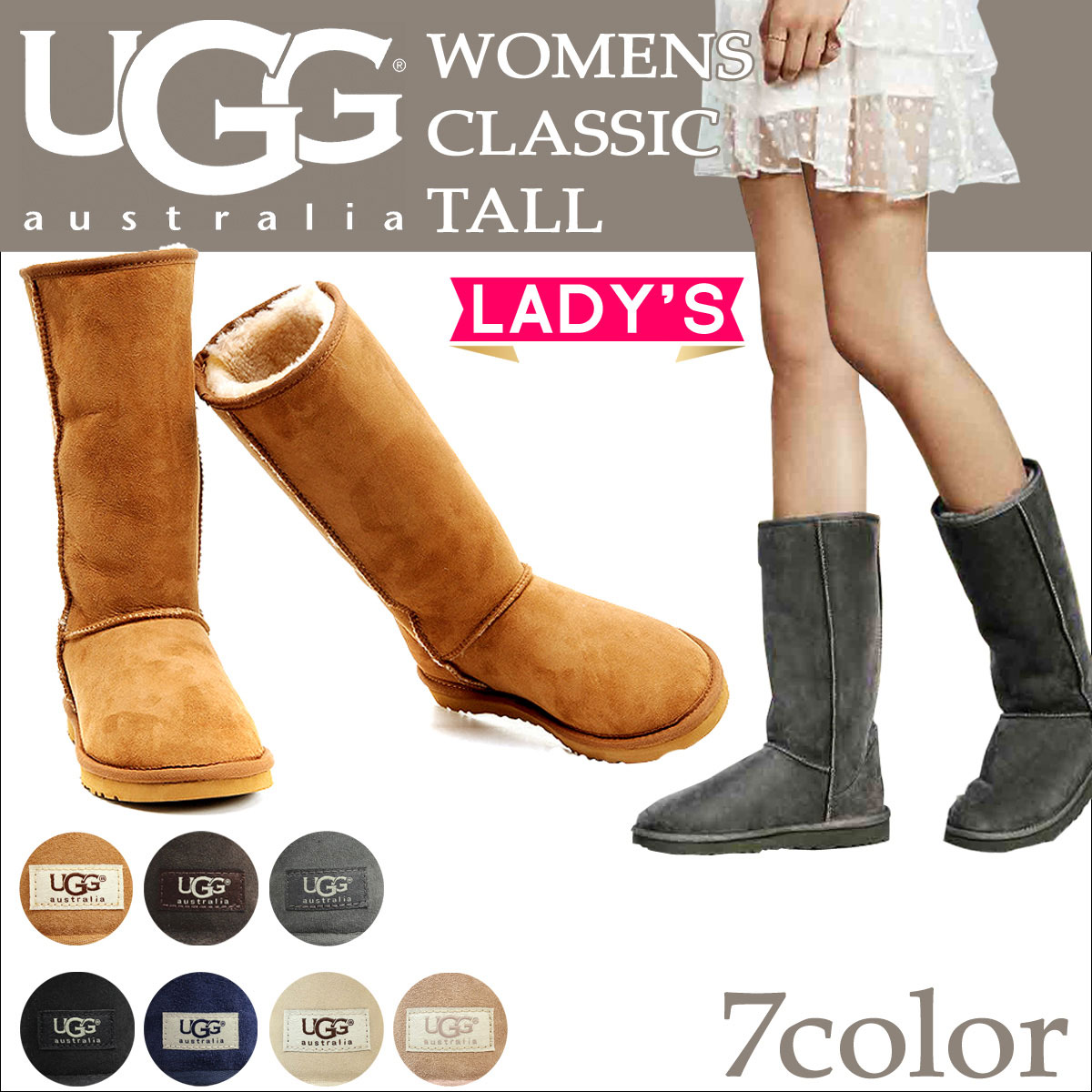 e01d03d6cf1 UGG WOMENS CLASSIC TALL II アグムートンブーツクラシックトール 2 Lady's 5815 1016224