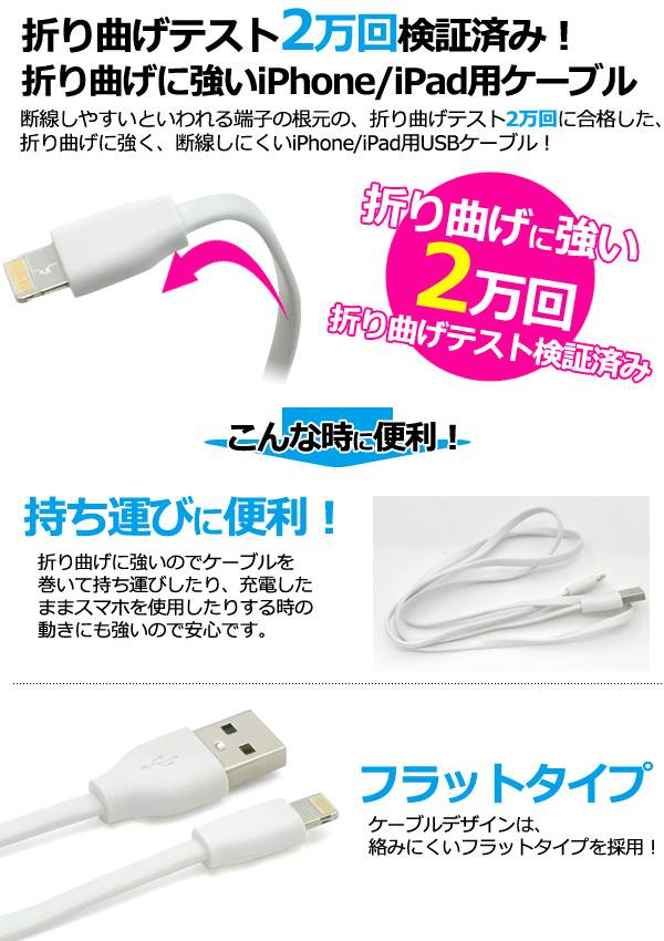 iPhoneSE iPhone6s USB 充電ケーブル iPhone 6 iPhone6 Plus iPhone 5s 急速充電 USBケーブル 1m 100cm 充電器 データ通信 アイパッドエアー2 アイフォン6 アイホン6 アダプタ iPad Pro iPad Air2 iPad mini