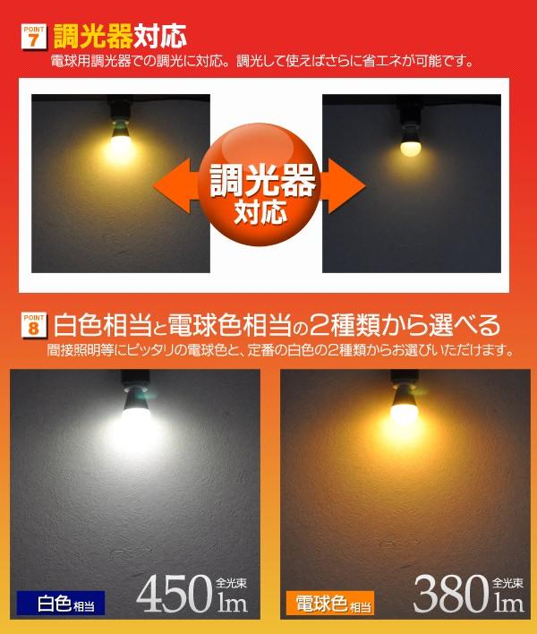 【楽天市場】LED電球 ミニクリプトン e17 調光器対応 ミニクリプトン形 口金E17 消費電力4.4W 長寿命 ...