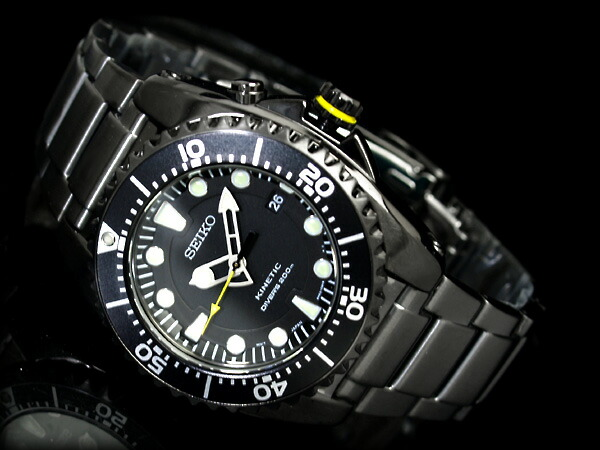 Seiko Specialty Store 3s Rakuten Global Market Kinetic Diver Mens Watch Black Dial