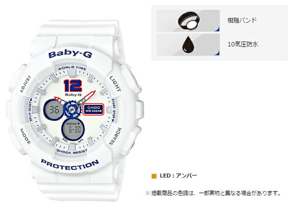 4452f21b0ff7 White Tricolor Series (white tricolor series) have designed the active  summer fashion for active women s casual watch baby-g from appeared.