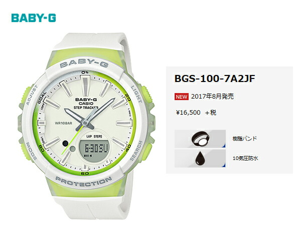 ef6161b5518 ... is equipped with a step tracker (steps count function) newly from  casual watch BABY-G for active women