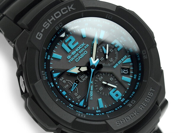 Casio G shock Cockpit Sky Overseas Model Tough Solar Mens Chronograph