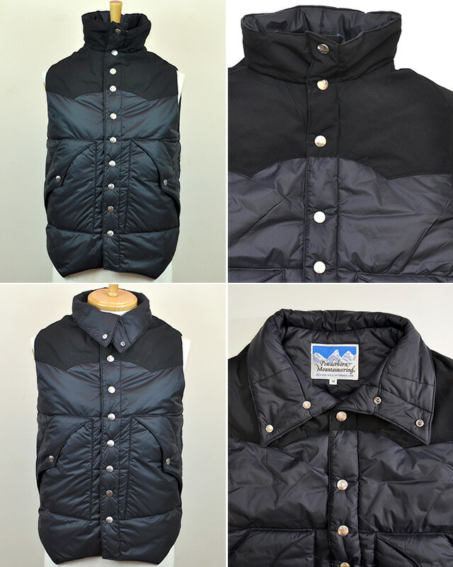 Powderhorn Mountaineering(パウダーホーンマウンテアリング) YORKED VEST/ ヨークドベスト